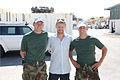 Damien Duff and his brother Sergeant Gerry Duff visit the troops of the Irish 106 Battalion in Tibnine Lebanon (7514514400).jpg
