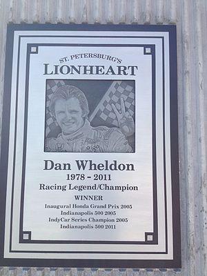 Firestone Grand Prix of St. Petersburg - Dan Wheldon memorial plaque located adjacent to the course layout.