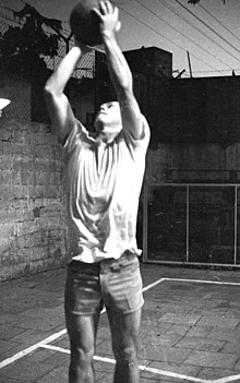 Entrenamiento de basquetbol en Israel 1969