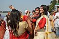 Dancing Devotees - Durga Idol Immersion Ceremony - Baja Kadamtala Ghat - Kolkata 2012-10-24 1325.JPG