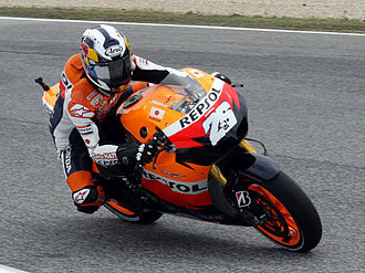 Dani Pedrosa - Pedrosa at the Portuguese Grand Prix, where he took his first win of the season