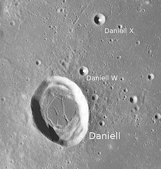 Daniell (crater) - Image: Daniell LROC WAC