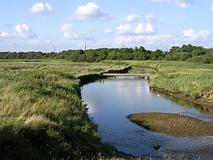 Dark Water (river) - Dark Water river and marsh, Lepe Country Park