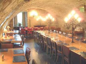 Deans Court - The vaulted dining room