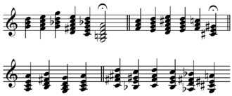 "Emancipation of the dissonance - Chords, featuring chromatically altered sevenths and ninths and progressing unconventionally, explored by Debussy in a ""celebrated conversation at the piano with his teacher Ernest Guiraud"" (Lockspeiser 1962, 207)."