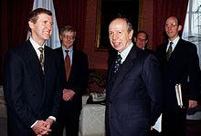 Incontro tra il Segretario alla Difesa degli Stati Uniti William Cohen e il Ministro degli affari esteri Lamberto Dini, 1997