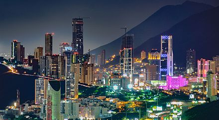 Monterrey's greater metropolitan area main business district. DelValleCity.jpg