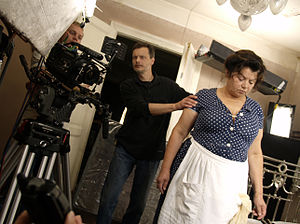 Delirium (2013 film) - Ihor Podolchak, Mykola Yefymenko (DOP) and Lesya Voynevych (Mother) at the movie set. 2008