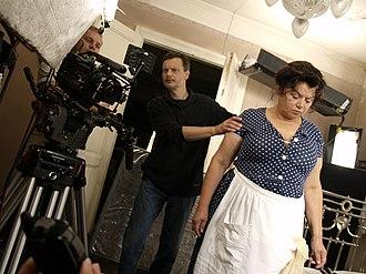 Delirium (2013 film) - Ihor Podolchak, Mykola Yefymenko (DOP) and Lesya Voynevych (Mother) at the movie set. 2008