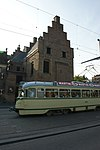 den haag - buitenhof 33 met oude tram lijn 36
