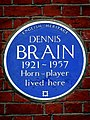 Dennis Brain 1921-1957 Horn-Player lived here.jpg