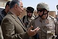 Deputy Prime Minister of Oil Chalibi speaks to MAJ. GEN. Robert Heine, Director, Iraqi Reconstruction Management Office while visiting the Bayji, Iraq oil refinery on March 22, 2006 - DPLA - 2ff003c8a1d38e8c0a60d52755af029e.jpeg