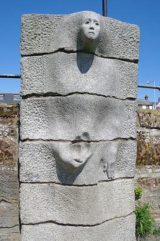 Dervorguilla of Galloway - Sculpture in the River Nith