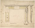 Design for a Chimneypiece (recto); Sketches for Column Bases (verso) MET DP800997.jpg