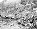 Destroyed wall section, section 11 Virgin River. ; ZION Museum and Archives Image ZION 8532 ; ZION 8532 (dcc0fcb07e5b410ebdb96aff5fc214be).jpg