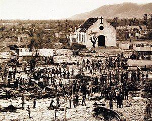 Hurricane Flora - Petit-Trou-de-Nippes, one of the many Haitian villages left in ruins, was about 85% destroyed.