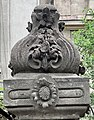 Detail of the fence of house 18, Bulevardul Lascăr Catargiu, Bucharest (Romania) 2.jpg
