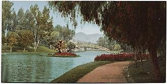Hollenbeck Park - Hollenbeck Park — in a 1901 postcard.