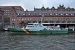 Deutsches Zollmuseum (Hamburg-Hafencity).Zollschiff Oldenburg.Ablaufendes Morgenhochwasser 06.12.2013.ajb.jpg