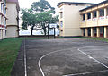 Devagiri College - Kozhikode, old Basketball court and Banyan tree.jpg