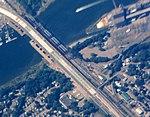 Devon Transfer and Housatonic River bridges aerial, September 2015.JPG