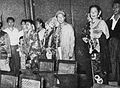 Dhalia, Ermina Zaenah, Rd Ismail, and Fifi Young at first Indonesian Film Festival, Film Varia 2.5 (May 1955), p2.jpg