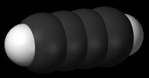 Diacetylene - Image: Diacetylene 3D vd W B