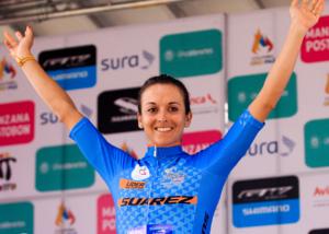Diana Peñuela en la etapa 3 de la Vuelta a Colombia Femenina 2017.png