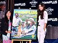 Diana Penty (right) unveiling the cover of Travel Plus magazine.jpg