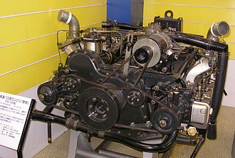 Flat engine - 1969 Hino Motors DS140 12-cylinder boxer diesel engine