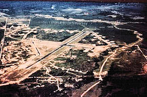 Dinjan Airfield - An aerial view of Dinjan airfield in about 1945
