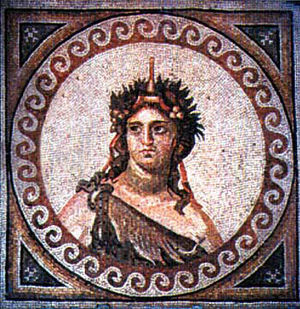 Nonnus - A mosaic of Dionysus from Antioch.