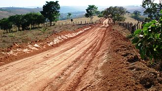 Dirt road - Dirt road in Brazil