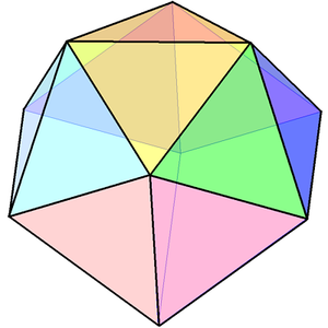 Edge-contracted icosahedron - Image: Dissected regular icosahedron