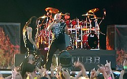 Disturbed am Sweden Rock 2008