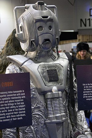 Earthshock - This serial featured newly designed Cybermen, on display here at a 50th Anniversary event