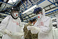 Doctors and nurses from the NHS train in Ebola saftey equipment (15811262376).jpg