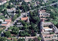 Aerial view of Dombóvár