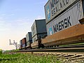 Double-stacked Maersk train (6953658370).jpg