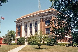Armour, South Dakota - The Douglas County Courthouse in Armour in 1995