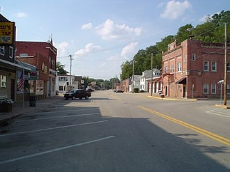 East Dubuque, Illinois - Downtown East Dubuque, along Sinsinawa Ave.