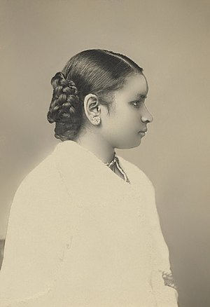 Anandi Gopal Joshi - A portrait photo of Dr. Anandibai Joshee, M.D., Class of 1886.