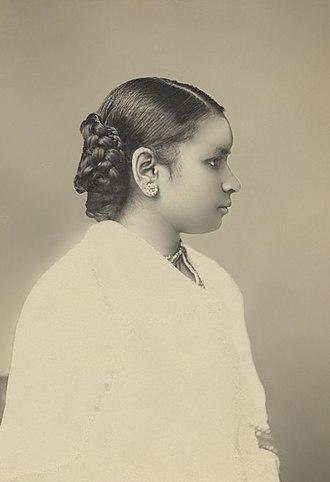 Anandi Gopal Joshi - A portrait photo of Dr. Anandibai Joshee, M.D., Class of 1886.