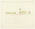 Drawing, Bed and Side Stand, Henry J. Allen Residence, Wichita, Kansas, 1917 (CH 18800327).jpg