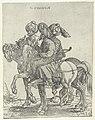 Drie boogschutters te paard Haiden (titel op object) Soleiman met zijn gevolg (serietitel), RP-P-1950-409B.jpg