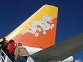 Drukair Airbus A319 tailfin.jpg