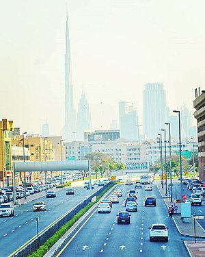 Dubai road by mahshooq badiadka