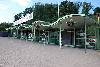 Dudley Zoo - Image: Dudley Zoo entrance, pic 2, England