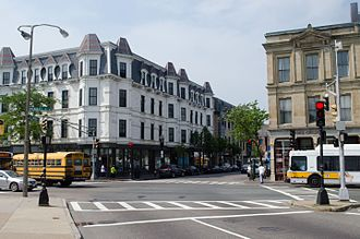 Dudley Station Historic District - Image: Dudley and Warren Street, Roxbury MA