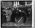 Duncan Stuart & Mrs. E.K. Clinton break ground for Takoma Park Masonic Temple, 11-12-24 LCCN2016838846.jpg